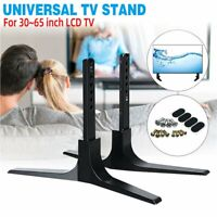 Universal Table Top TV Stand for 32-65'' LCD LED Height Adjustable Flat Screen