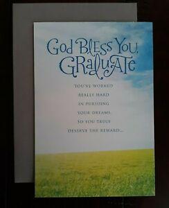 GRADUATION CARD - American Greetings Card - God Bless You Graduate