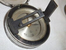 Old pocket hiking compass-brass and chrome cover case Made in France-Works!!!