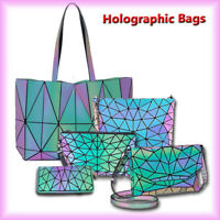 丿 New Holographic Luminous Backpack Crossbody Bag Rainbow Reflective Bag Wallet