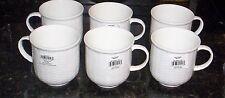 """6 Wedgwood Nantucket Basket Weave  Beaker Mugs Cups White  NWT   3 1/2"""""""