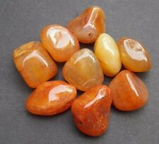 CARNELIAN AGATE Tumbled Stones Rock POWER STONE Healing Med Jewelry 2 oz BRAZIL