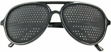 Full Lens Vision Training Pinhole Glasses, NATURAL EYES HOLSEN, Black frame