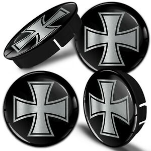 60mm / 55mm Universal Wheel Centre Hub Cover Center Alloy Rim Caps Iron Cross