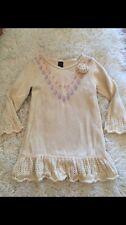 Baby Gap Desert Rose Cream Tribal Sweater Dress Crochet  Fall Toddler 3 Toddler