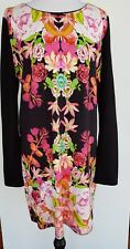 SPORTSGIRL Black/Bright Floral Tunic Dress Size M