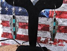 Paio di ORECCHINI Tribal Native South-Western Collection earrings Feather PIUMA