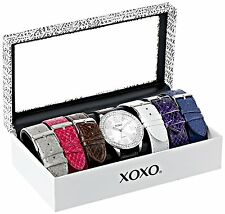 XOXO Womens Analog-Display Quartz Watch W/ Interchangeable Bands