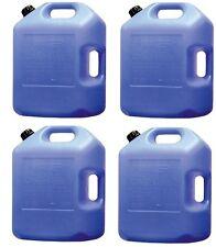 (4) ea Midwest Can # 6700 6 gallon Potable Water Storage Container w Pour Spout