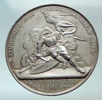 1844 SWITZERLAND Swiss SHOOTING FESTIVAL Basel Old Genuine Silver Medal i82133