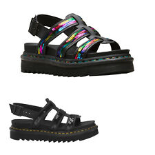 Dr.Martens Yelena Sequin Leather Casual Platform Womens Sandals