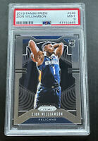 2019-20 Panini Prizm Zion Williamson Base #248 Rookie RC PSA 9 Mint Pelicans