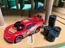 *New* Disney Pixar CARS Daredevil Garage Spin Out Lightning McQueen HTF RARE