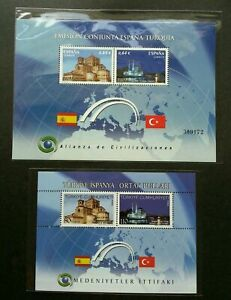 [SJ] Spain Turkey Joint Issue Alliance Of Civilization 2010 Mosque (ms pair) MNH