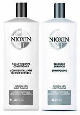 Nioxin System 1 Cleanser & Scalp Therapy Liter Duo NEW PACK 33.8oz ea.