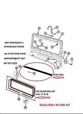 JEEP WRANGLER YJ 87-95 WINDSHIELD FRAME COWL & GLASS SEALS 4PC Kit