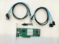 Dell PERC H310 9240-8i M1015 SAS SATA 8-Port Raid Controller+ 2*SFF-8087 cables