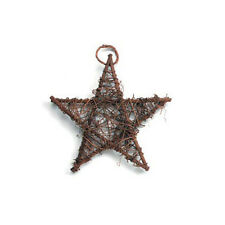 Brown Grapevine Star- 6 inches- Shabby Rustic Wedding Party Home Decor