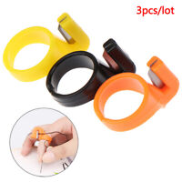 3pcs Sewing Thimble Ring Blade Finger Thimble Thread Cutter Crafts Tangent DFI