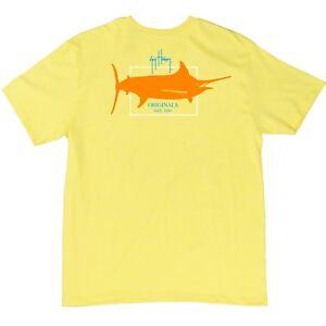 Guy Harvey Boy's Youth Logo Fishing T-shirt..Pick Size..Bright Yellow Heather