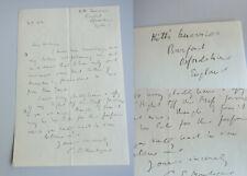 Author Charles Edward MONTAGUE (1867-1928): handwritten letter BURFORD 1928