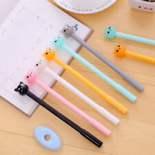6Pcs Lovely Cute Cartoon Jelly color Bear Gel ink Pens Office School Stationery