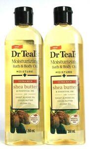2 Dr Teal's Moisturizing Bath & Body Oil  Shea Butter Almond Jojoba Oil 8.8 oz