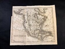 MAP OF NORTH AMERICA 1812