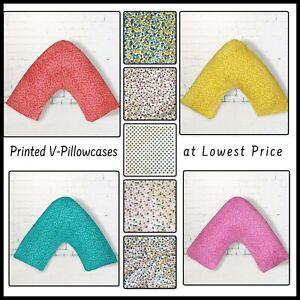 Brand New Printed Back&Neck V-Shaped Orthopedic PillowCase PolyCotton 68 Pick