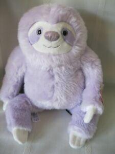 New FAO Schwarz Sparklers Toy Purple Glitter Plush - Sloth