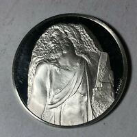St. Matthew, The Genius of Michelangelo 1.26oz Sterling Silver Medal