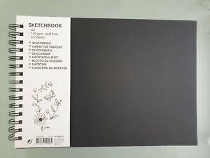 Skizzenbuch A4, 50 Blatt im Spiral Block, 130g/m² Sketchbook, Säurefrei Malblock