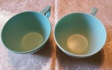 LOT OF 2 MELMAC LIGHT BLUE TEA CUPS SUN-VALLEY TEXASWARE