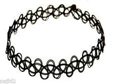 Tattoo Choker Gothic Collier 1 schwarz Retro Halsband dehnbar elastisch Kette