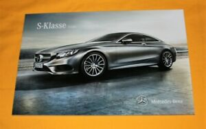 Mercedes S-Klasse Coupe 2015 Prospekt Brochure Catalog Folder Prospetto каталог