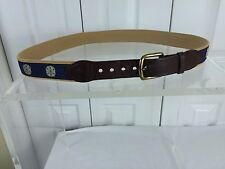 Leather Man Sz 40 Sand Dollar Pattern Belt Leather End Hand Made
