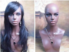 New Black Realistic Female Mannequin Head Bust For Wig,Sunglasses/Jewelry 14