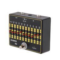 Caline CP-24 10-Band-EQ Equalizer True Bypass Gitarre Effektpedal mit Alumi R8T6