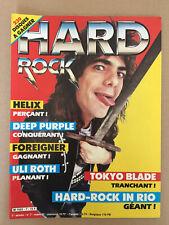 Magazine  HARD ROCK   N°7  1985   Iron Maiden  Tokyo Blade  Foreigner  Helix