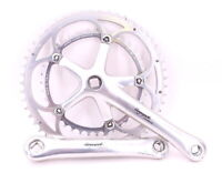 Campagnolo Chorus Road Bike Crankset 175mm Double 53/39 Square Taper ISO Silver