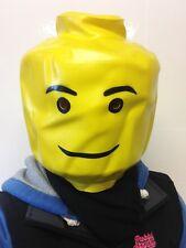 Adult Lego Man head Mask Superhero 'Block head' Lego Movie Fancy Stag Party