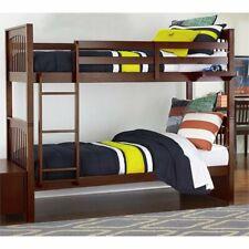Rosebery Kids Twin Over Twin Slat Bunk Bed in Cherry
