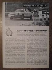 NSU RO80 orig 1968 UK Mkt Road Test Brochure