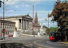 B22353 Wien Parlament Old tramway tram austria