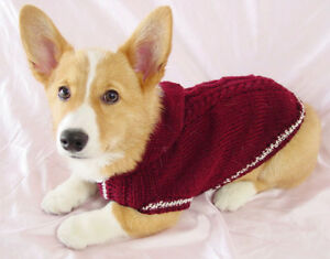 (DACHSHUND) D-S, D-M, D-L CHOCOLATE BROWN DIAMOND HAND KNITTED SWEATER