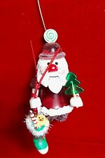 SANTA WITH CANDY  Christmas Tree Ornament Holiday Stocking Stuffer