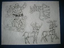 * Tri Chem 8918 Santa And Reindeer Sleigh Toys Picture to paint Trichem