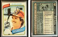Alan Ashby Signed 1980 Topps #187 Card Houston Astros Auto Autograph