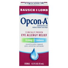 Bausch & Lomb Opcon-A Sterile Antihistamine and Redness Reliever Eye Drops 0.5