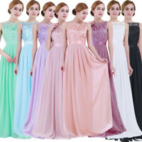 Women Wedding Bridesmaid Dress Evening Party Prom Ball Gown Formal Cocktail